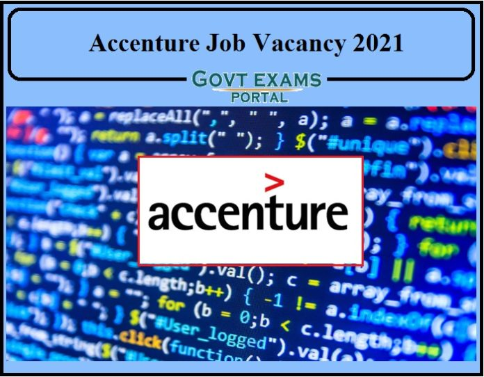 Accenture Job Vacancy 2021 Notification Released- Direct Link to Apply Online!!!