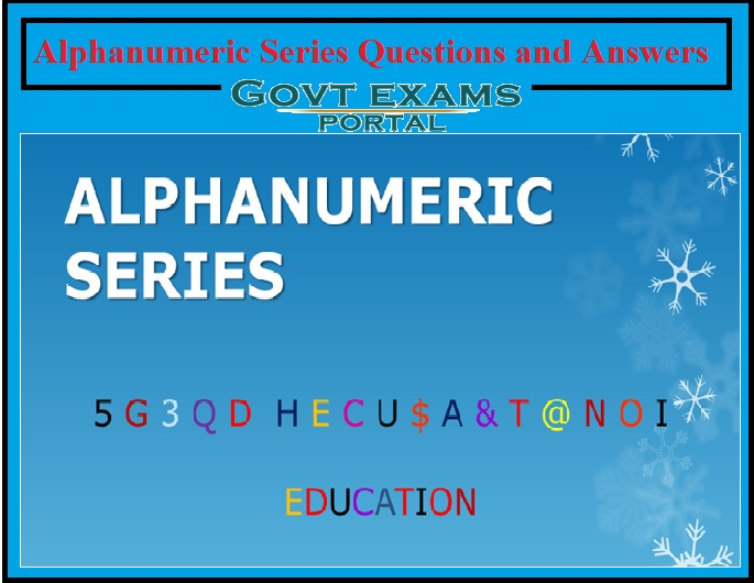 Alphanumeric Series Questions and Answers