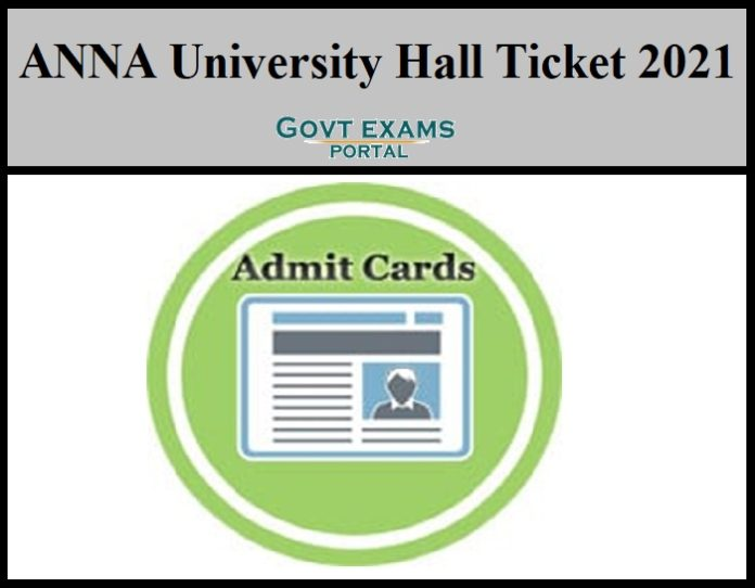 Anna University Hall Ticket 2021