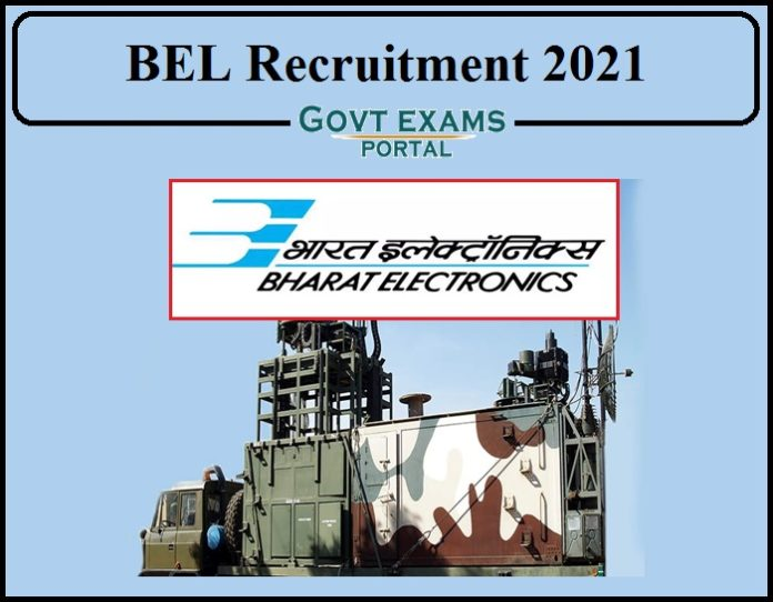 BEL Recruitment 2021 Notification Out- Download Application PDF Here!!!