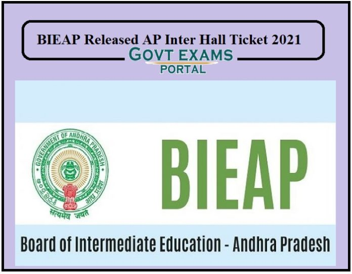 BIEAP Released AP Inter Hall Tickets 2021