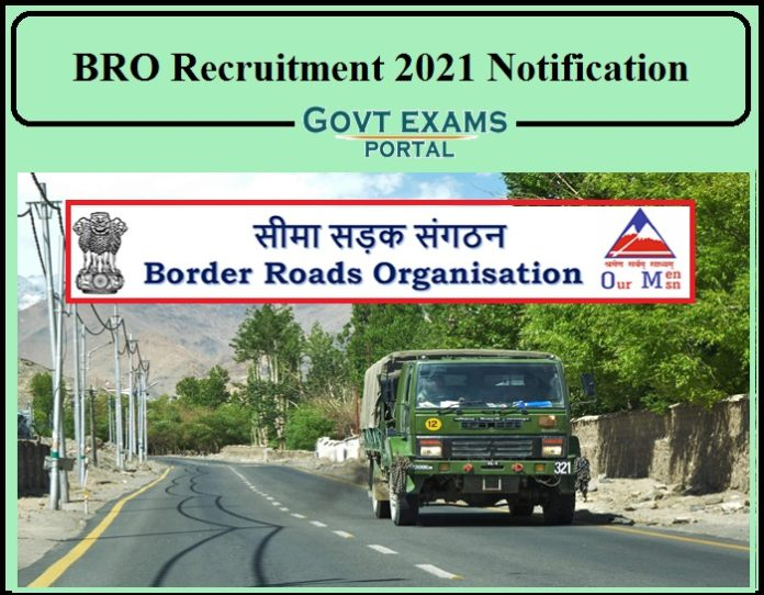 BRO Recruitment 2021 Notification PDF Released- Apply for 459