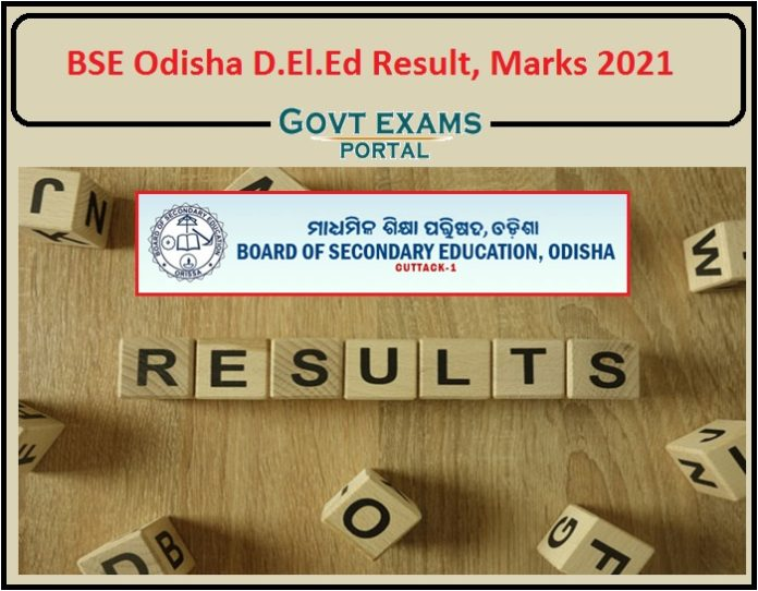 BSE Odisha D.El.Ed Final Result 2021 Released- Download 1st Year (Regular)