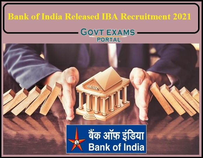 Bank of India Released Job Notification 2021- Apply for IBA Senior Advisor Post!!!