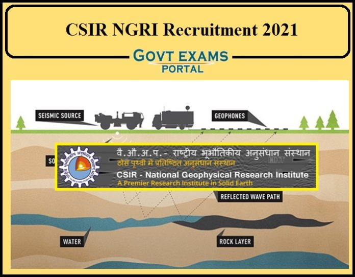 CSIR NGRI Technical Assistant Recruitment 2021 Notification Released- Apply Online for Technical Officer!!!