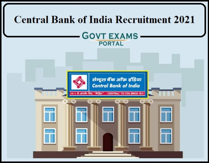 Central Bank of India Recruitment 2021 Notification PDF Released- Download Application Form Here!!!