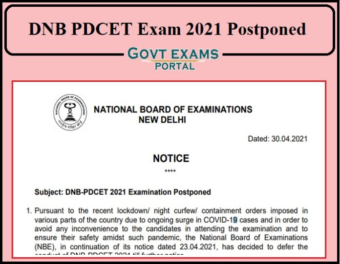 DNB PDCET Exam 2021 Postponed- Want To Know New Dates