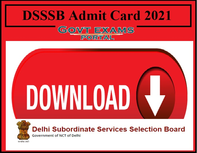 DSSSB Admit Card 2021