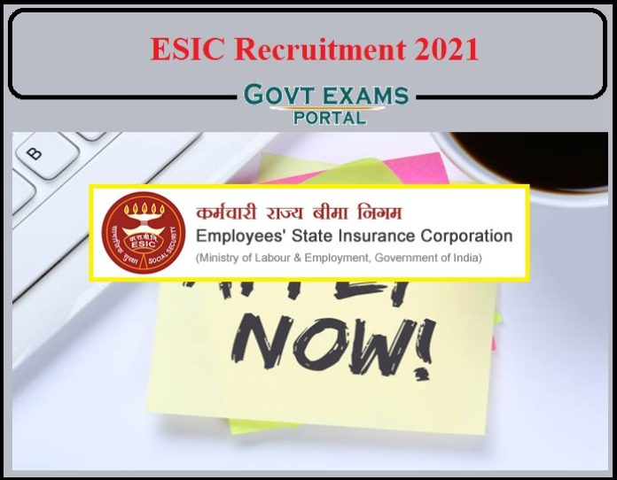 ESIC Recruitment 2021 Notification Out-