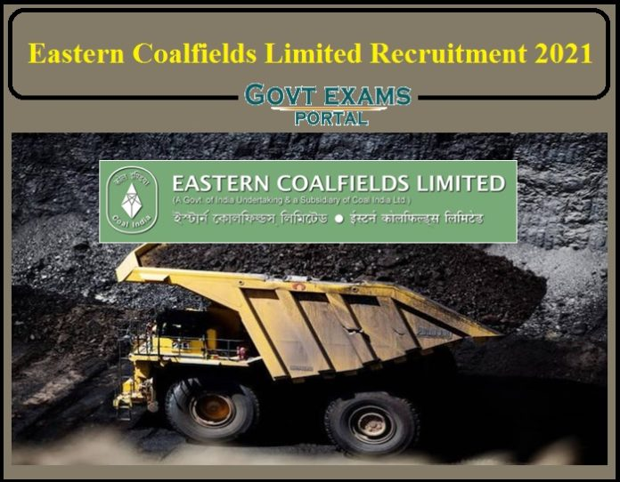 Eastern Coalfields Limited Recruitment 2021 Notification Released- Apply for 75 Vacancies!!!