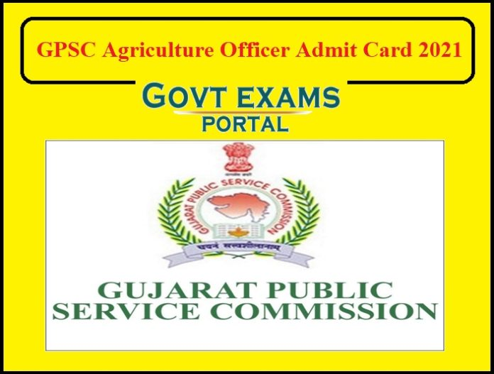 GPSC Agriculture Officer Admit Card 2021