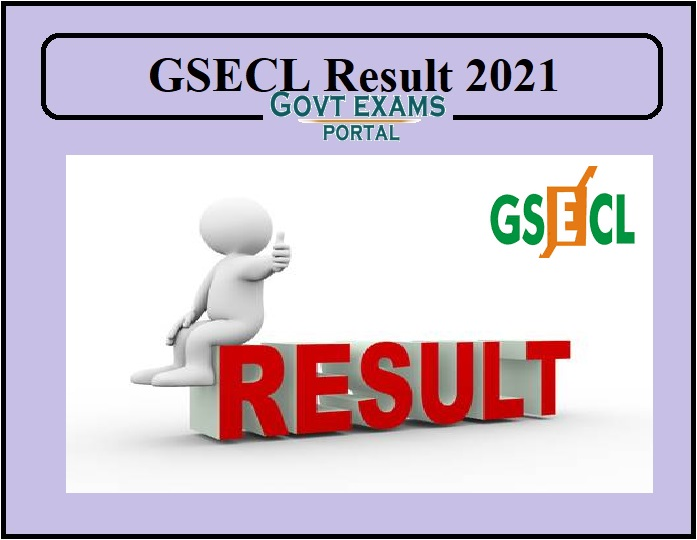 GSECL result 2021