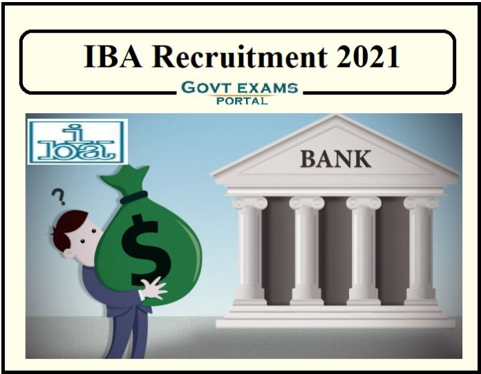 IBA Recruitment 2021