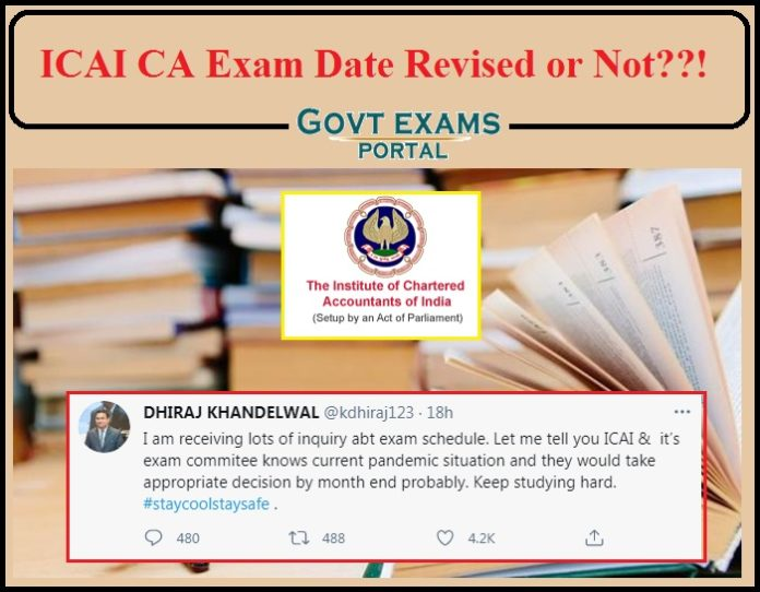 ICAI CA Exam Date Revised or Not