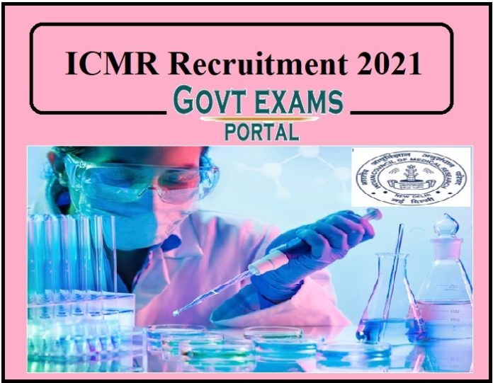 ICMR Releases NIR Recruitment 2021