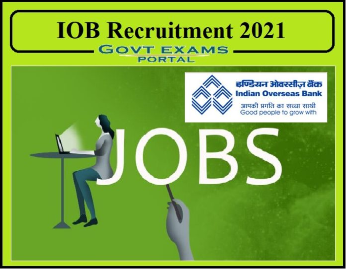IOB Senior Economist Recruitment 2021