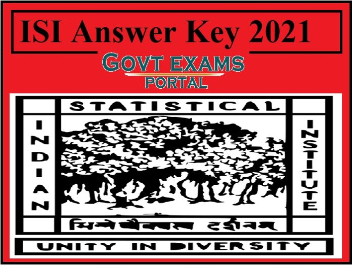 ISI Scientific Assistant Answer Key 2021