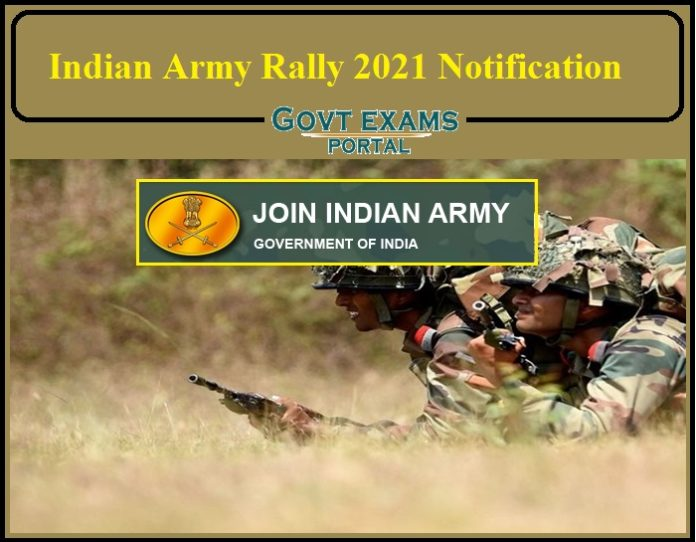 Indian Army Rally 2021 Notification PDF Released- Check Details for Bareilly and Ambala ARO!!!