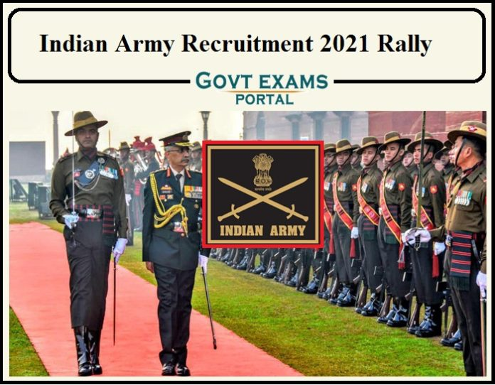Indian Army Recruitment 2021 Rally Notification Released- Apply Online