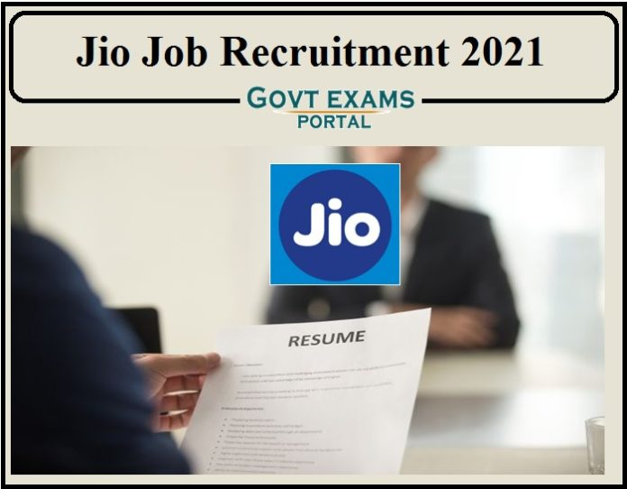 Jio Job Recruitment 2021 Notification Released- Apply Online for 200+