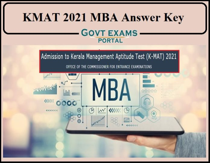 KMAT 2021 MBA Answer Key Released- Direct Link to Download!!!