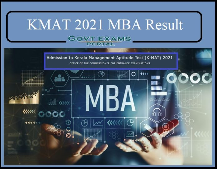 KMAT 2021 MBA Result