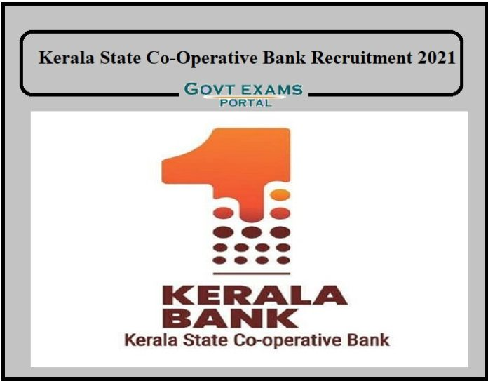 Keral State Co-Operative Bank Recruitment 2021