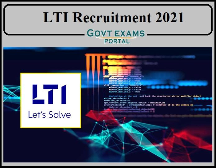 LTI Transition Manager Recruitment 2021 Notification Released- Apply Online Now!!!