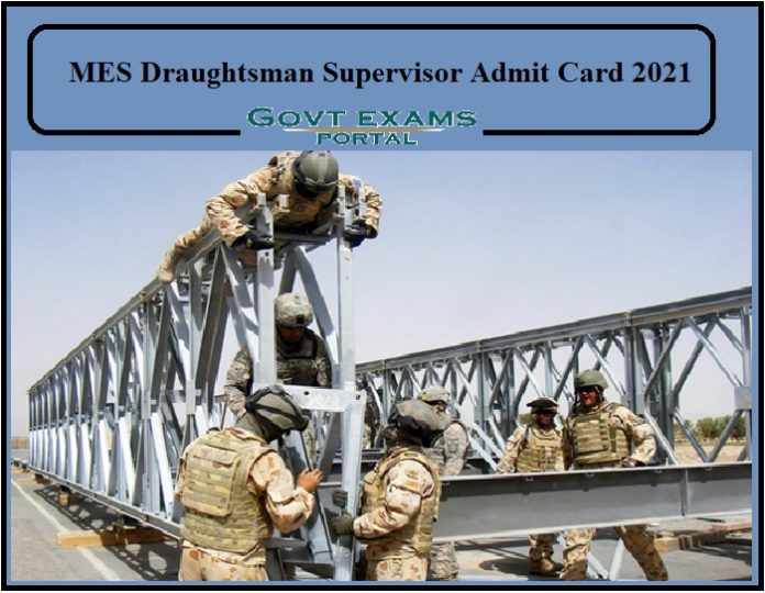 MES Draughtsman Supervisor Admit Card 2021