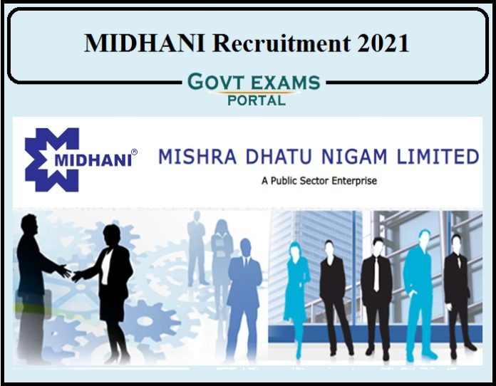 MIDHANI Recruitment 2021 Notification Released- Apply Online for Junior