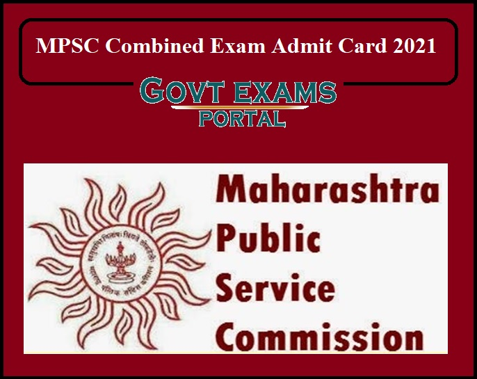 MPSC Combined Exam Admit Card 2021