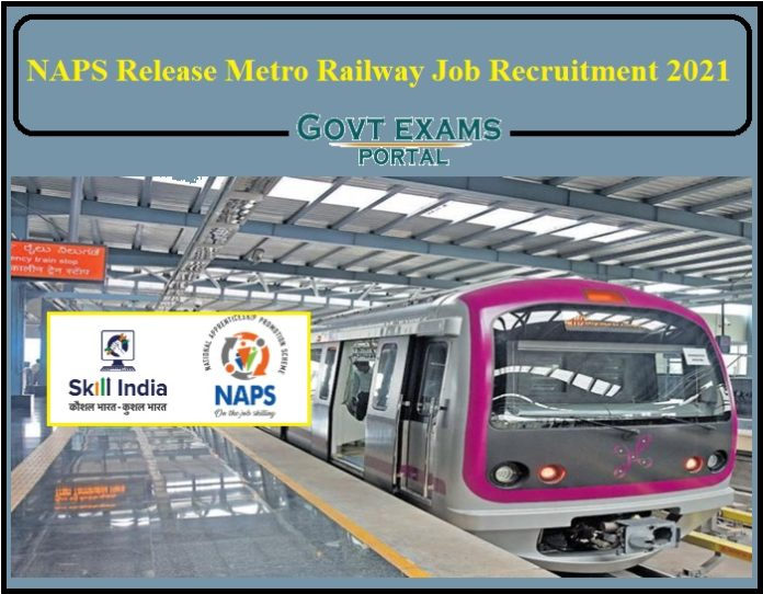 NAPS Release Metro Railway Job Recruitment 2021 Notification - 10th