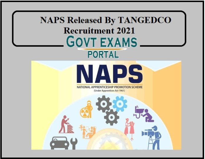NAPS Released By TANGEDCO Recruitment 2021