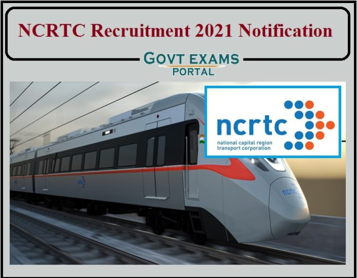 NCRTC Recruitment 2021 Notification PDF Released- Salary Upto Rs.2,20,000 Download Application Here!!!