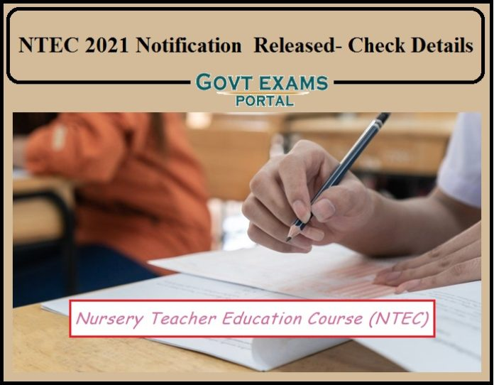 NTEC 2021 Notification Released by Kerala Pareeksha Bhavan-Direct Link to Download Available!!!