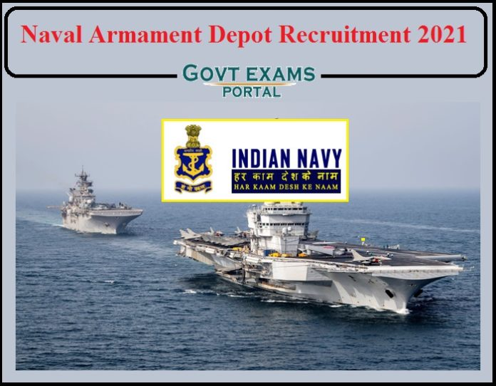 Naval Armament Depot Recruitment 2021 Notification Released- Apply for