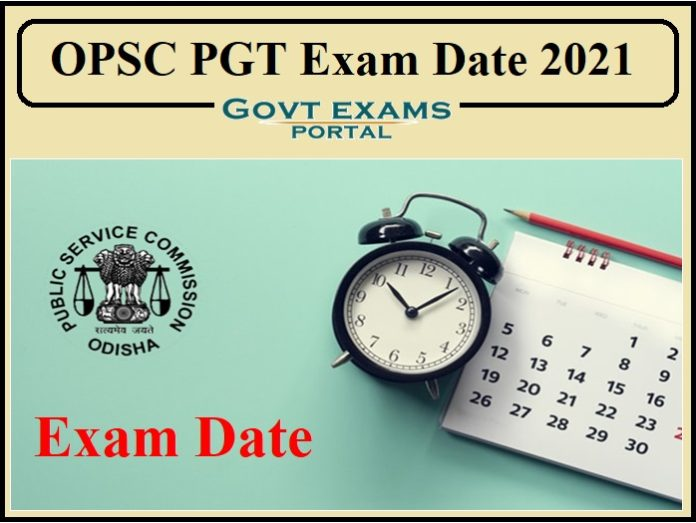 OPSC PGT Exam Date 2021