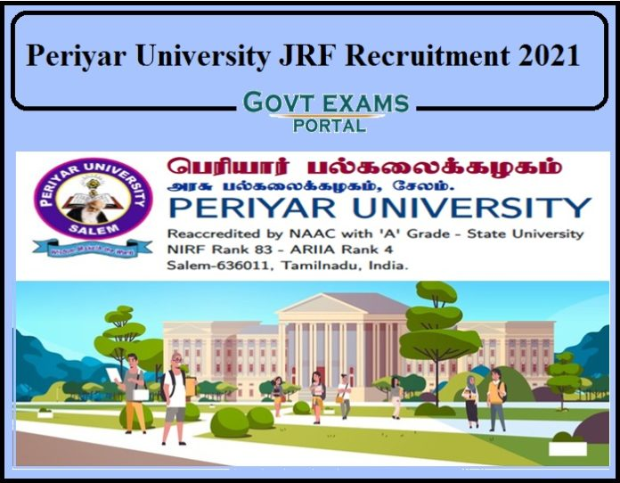 Periyar University JRF Recruitment 2021 Notification Released- Apply for Senior Project Associate!!!