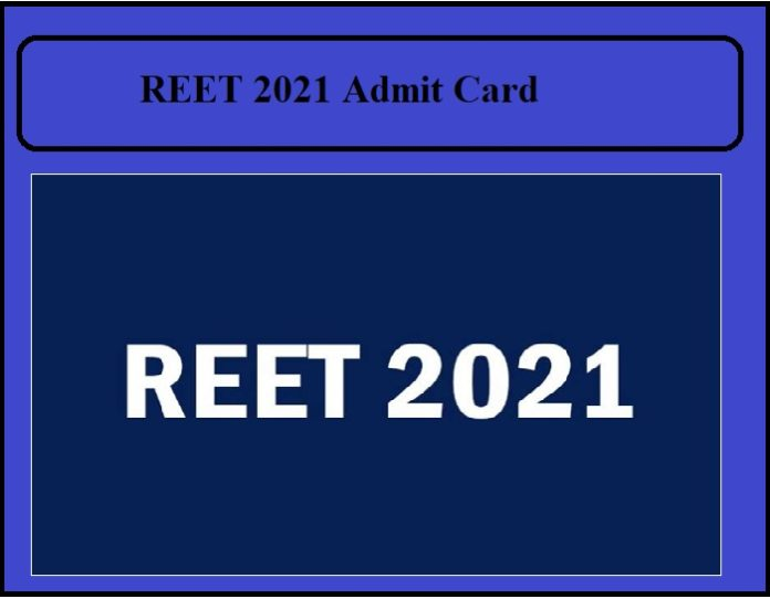 REET 2021 Admit Card