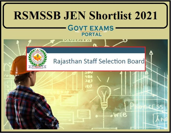 RSMSSB JEN Shortlist 2021 Released- Check Document Verification Details!!!