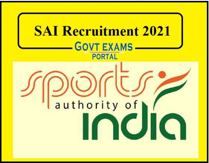 SAI Recruitment 2021 Released