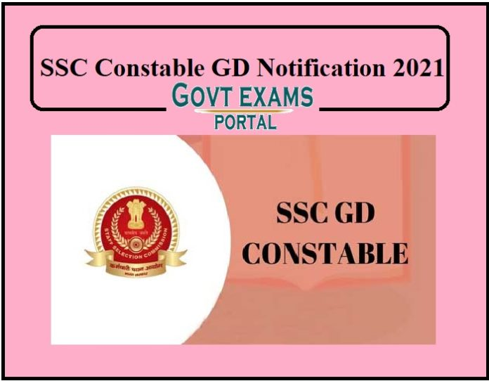 SSC Constable GD Notification 2021