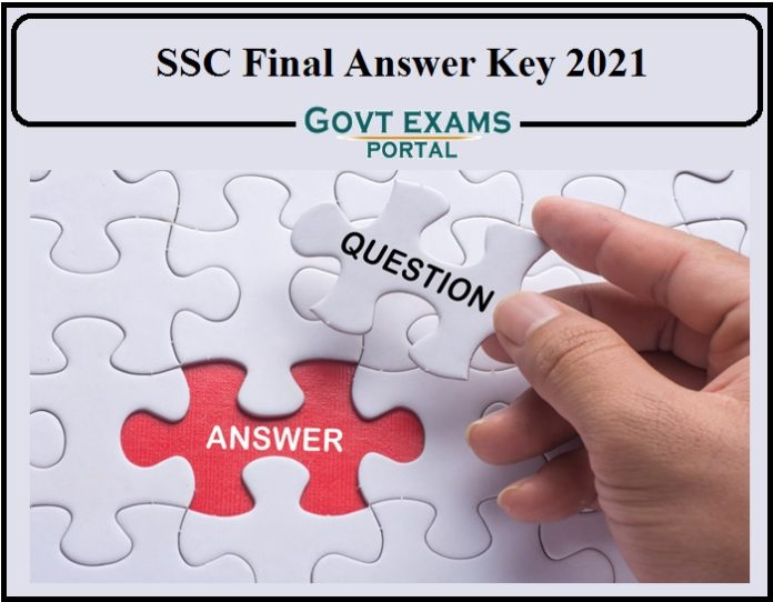 SSC Selection Post Phase 8 2020 Final Answer key Released- Direct Link to Download!!!!