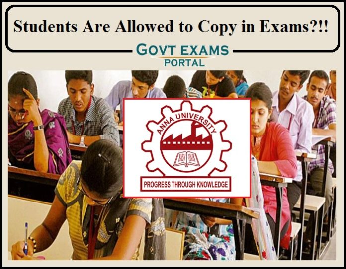 Students Are Allowed to Copy in Exams
