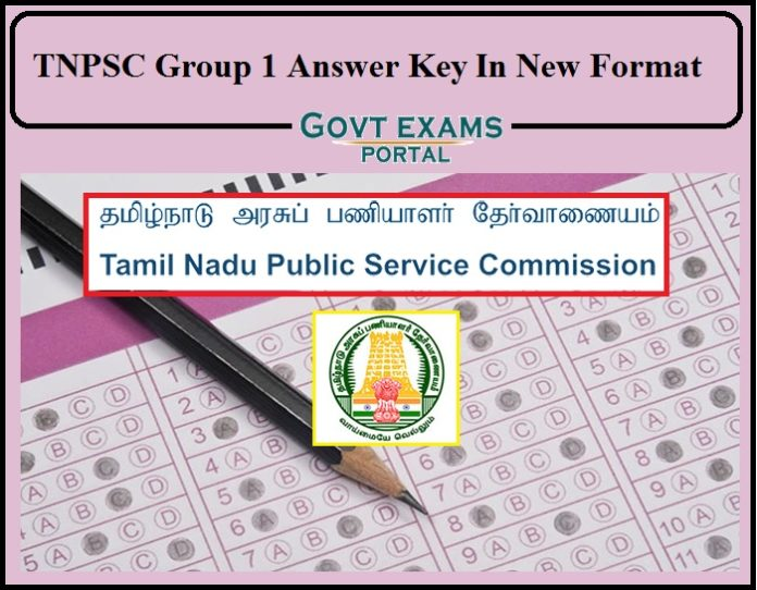 TNPSC Group 1 Answer Key In New Format- Check Exam Key Details Here!!!