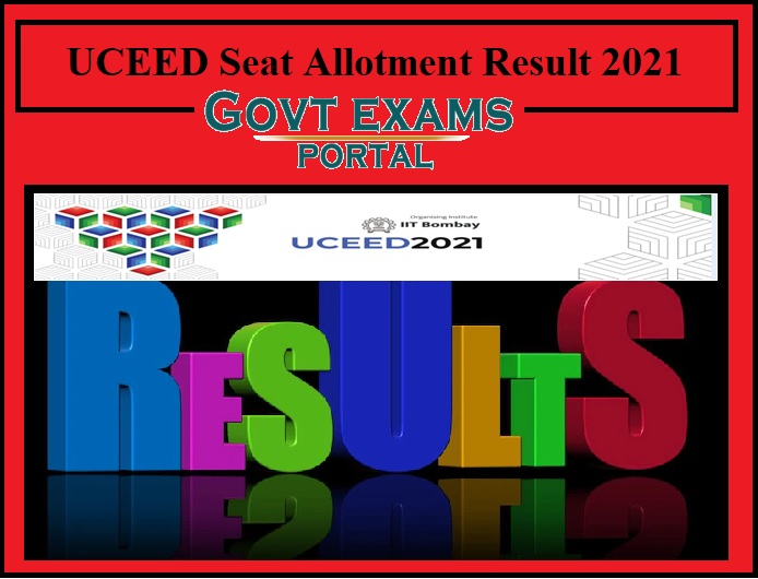 UCEED Seat Allotment Result 2021