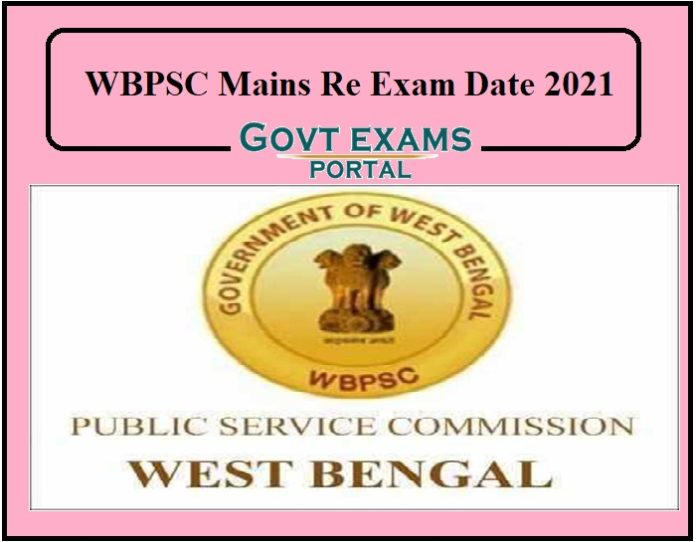 WBPSC Mains Re Exam Date 2021