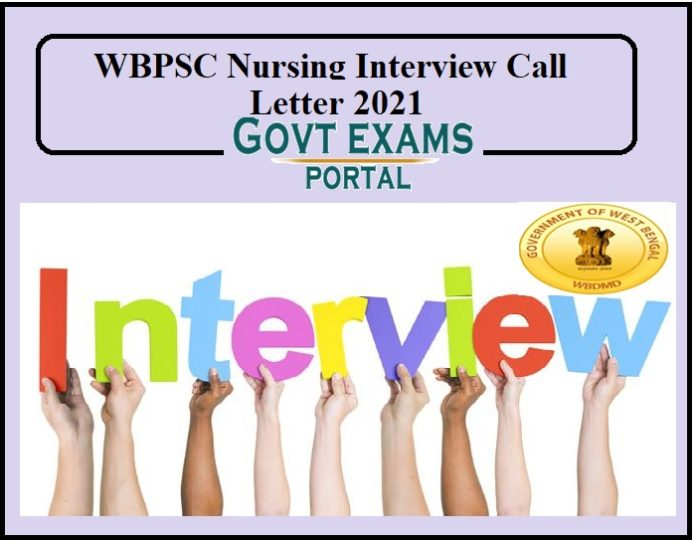 WBPSC Nursing Interview Call Letter 2021