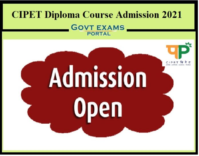 CIPET Diploma Course Admission 2021