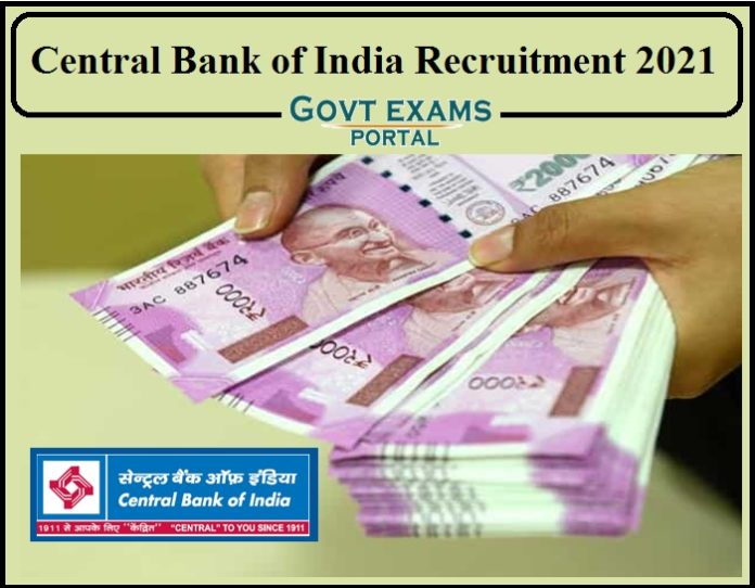 Central Bank of India Recruitment 2021 Notification Released- Apply Now!!!